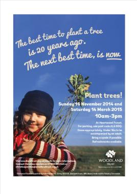 Tree Planting Poster - Heartwood Forest 2014
